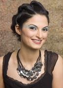 Portrait of a female fashion model posing Stock Photos