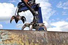 Hydraulic Claw Crane Stock Photos