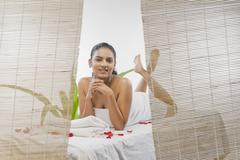 Stock Photo of Young woman getting spa treatment