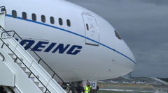 Boeing 787 Close up - stock footage