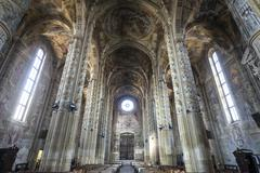 Cathedral of asti, interior Stock Photos