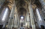 Stock Photo of cathedral of asti, interior