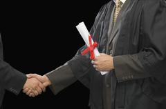 Close-up of two businessmen shaking hands Stock Photos