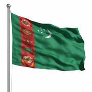 flag of turkmenistan - stock illustration