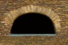 Sandstone Wall Arch Stock Photos