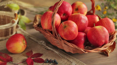 Ripe red apples‎ Stock Footage