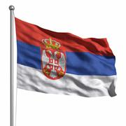 Stock Illustration of flag of serbia