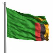 Stock Illustration of flag of zambia