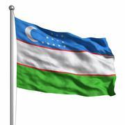 Stock Illustration of flag of uzbekistan