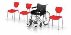 Wheelchair -  individuality concept Stock Illustration