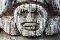 Aboriginal totem pole detail Stock Photos