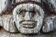 Stock Photo of aboriginal totem pole detail