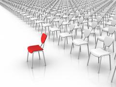 leadership  -  individuality concept - stock illustration
