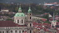 Stock Video Footage of Church of Saint Nicholas in Lesser Town from Petrin