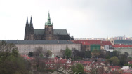 Stock Video Footage of Prague Castle from Petrin