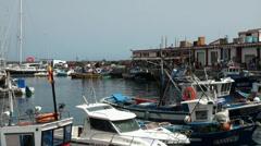 Harbor fisherman village Puerto de Mogan Stock Footage
