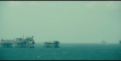Oil exploration platform Stock Footage