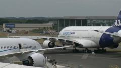 Airbus A380 & Boeing 787 Stock Footage