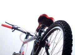 Tire of mountain bike Stock Photos