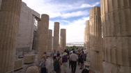 Stock Video Footage of Acropolis tourists, handheld