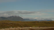 Stock Video Footage of Wide time-lapse of clouds over a rocky landscape in Greenland