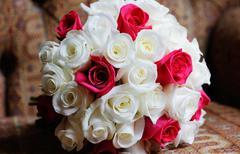 Bride floral arrangement Stock Photos