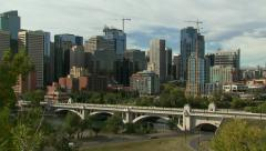 Calgary - Downtown view - stock footage