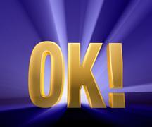 ok! - stock illustration