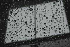Abstract raindrop window Stock Photos