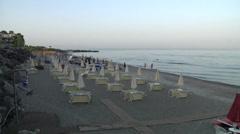 Jonic sea coast of Sicily. Stock Footage