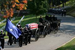 Funeral at Arlington National Cemetery - stock photo