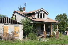 Palanut talo Detroit Kuvituskuvat