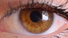 Eye macro...zoom in Stock Footage