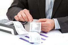 Analysing the expenses Stock Photos