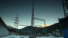 Power transmission line - stock footage