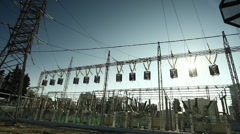 Electricity station equipment Stock Footage