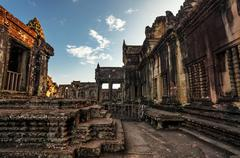 Angkor wat temple Stock Photos