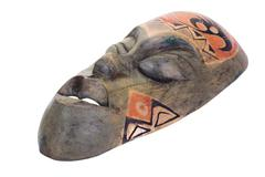 Close-up of a tribal mask - stock photo