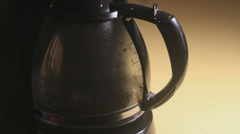 Filter coffee in a pot, Closeup Stock Footage
