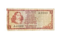 Vintage etelä-afrikkalainen 1970 setelin Kuvituskuvat