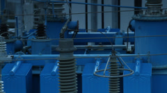 Electricity station equipment - stock footage