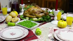 Serving table - stock footage