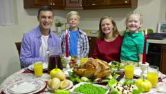 Family at table - stock footage