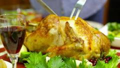 Slice of poultry Stock Footage