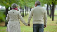 Elderly walk Stock Footage
