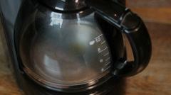 Filter coffee machine at work, Closeup Stock Footage