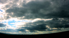 Dark clouds - stock footage