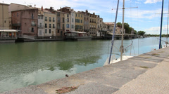 Agde, South of France 6 Stock Footage