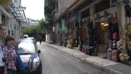 Stock Video Footage of Athens people on narrow street
