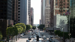 Downtown Traffic in Los Angeles - Time Lapse -  - 4K Stock Footage